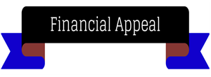 Black Blue Ribbon Text Financial Appeal