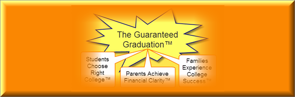 guaranteed graduation banner with three college planning goals highlighted